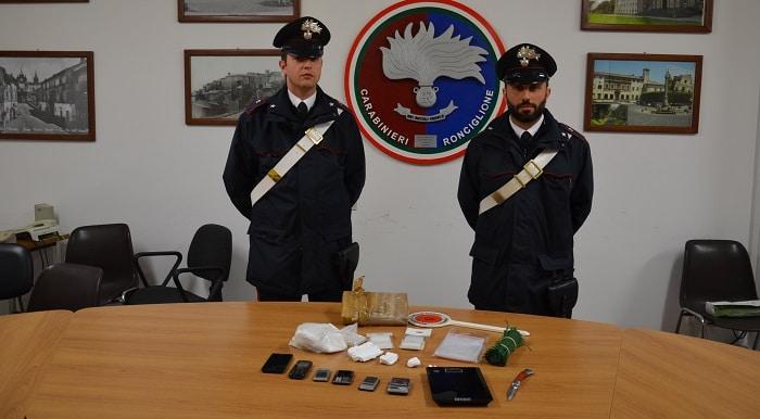 Spaccio di cocaina, un 46enne arrestato dai carabinieri: verrà processato per direttissima