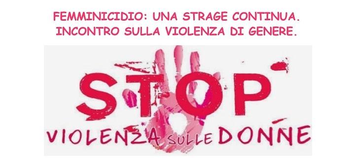 Femminicidio una strage continua a soriano incontro - Pinelli una finestra sulla strage ...