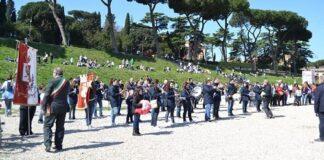 Banda di Gallese alla Maratona di Roma