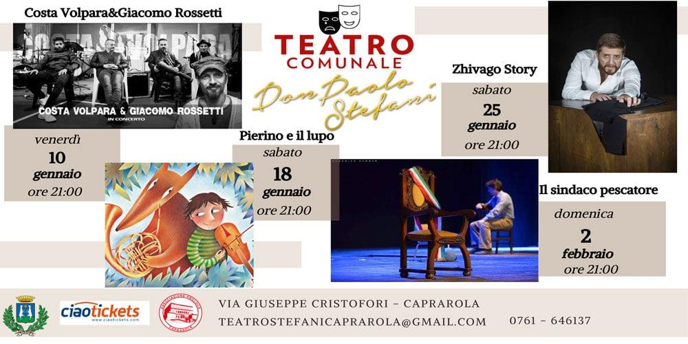 Un intenso inizio di 2020 per ilTeatro Comunale Don Paolo Stefanidi Caprarola