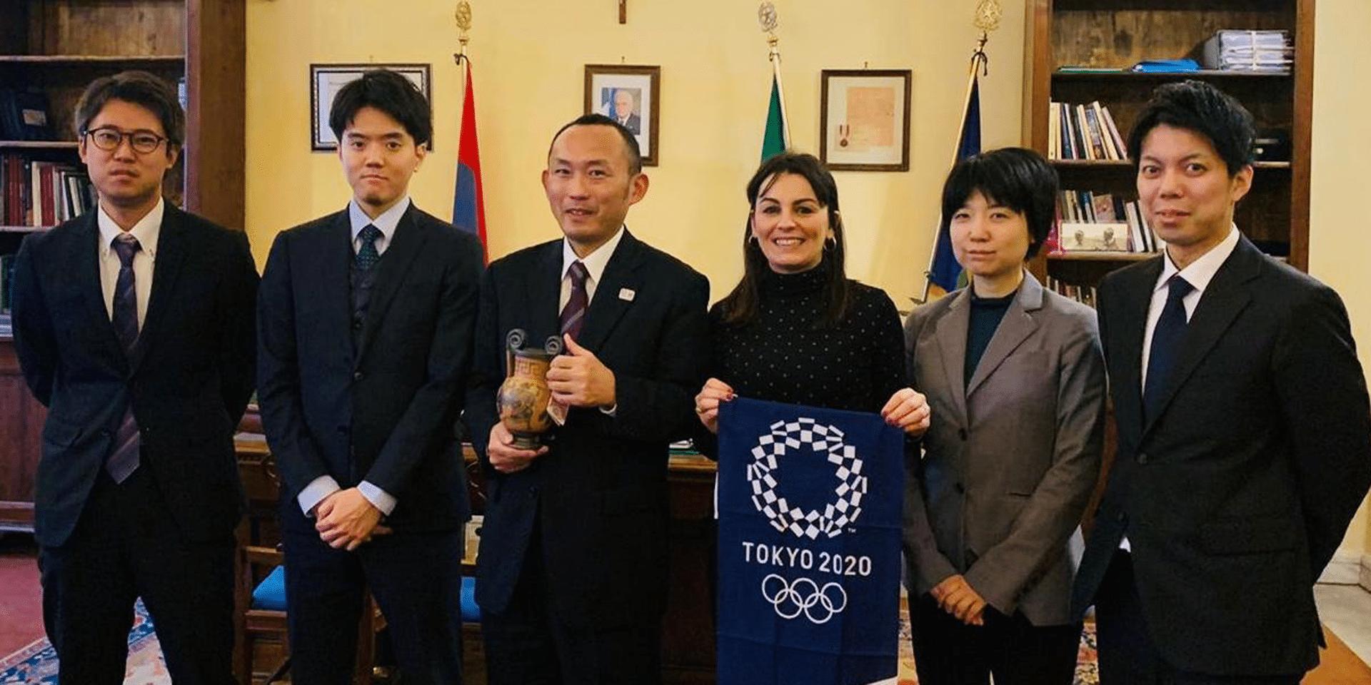 Delegazione Giapponese a Tarquinia