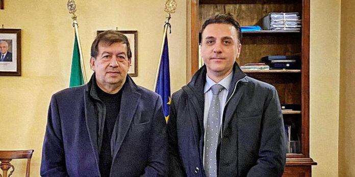 Tarquinia - Alessandro Giulivi e vice questore aggiunto Daniele Manganaro