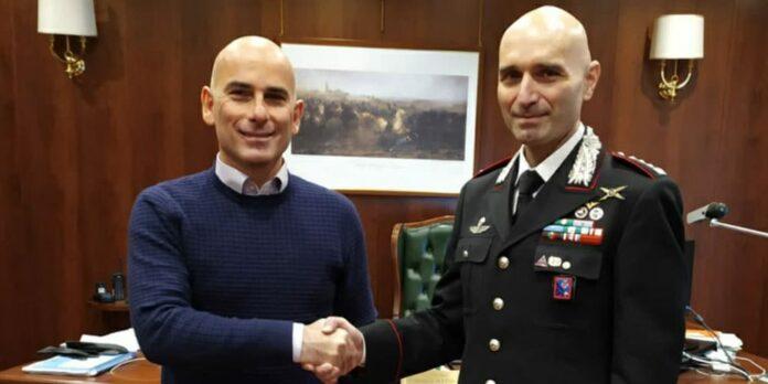 Colonnello Andrea Antonazzo e Alfredo Boldorini