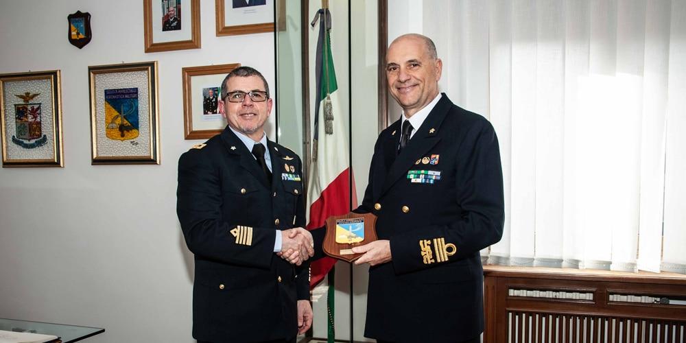 Il Direttore di Persomil alla Scuola Marescialli/Comando Aeroporto di Viterbo