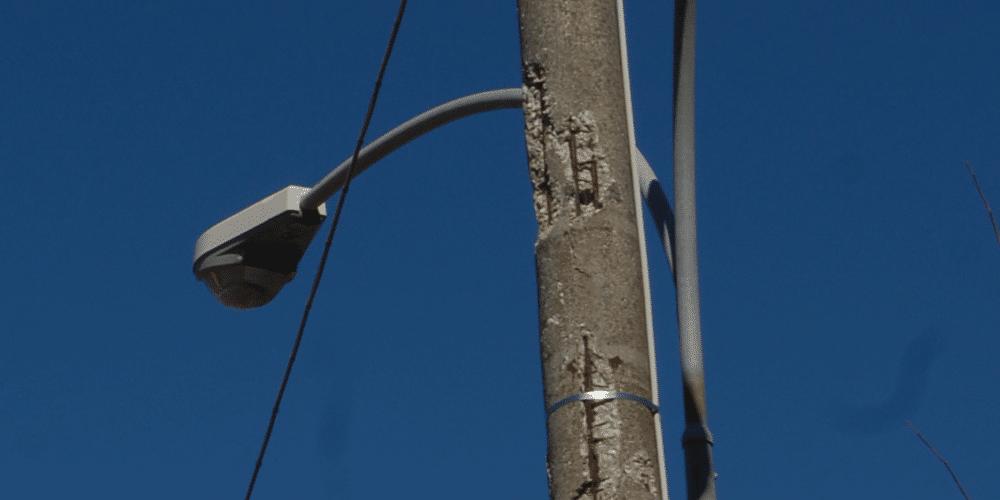 Lampione pericoloso Montefiascone