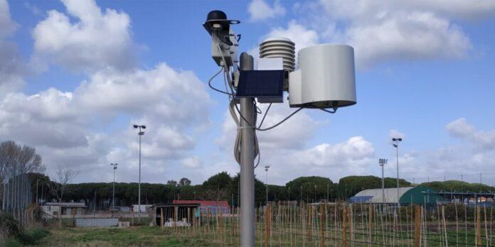 stazione meteorologica nel vigneto