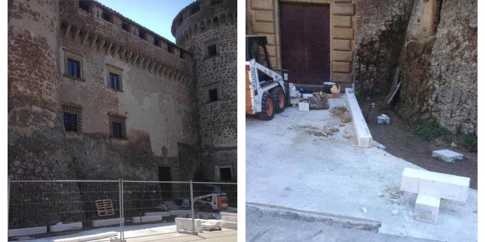 Marciapiede Castello Orsini