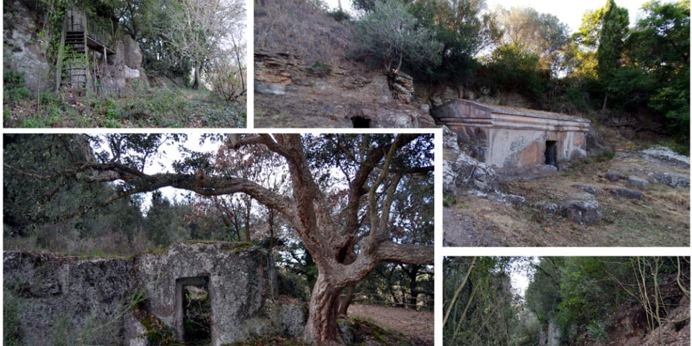 Tuscania Necropoli Peschiera e Tomba a Dado