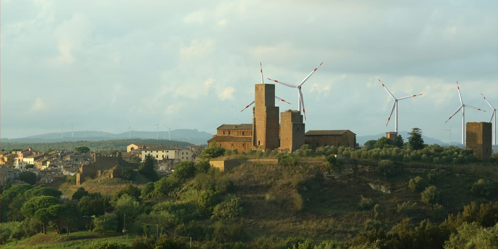 Tuscania, simulazione centrale eolica