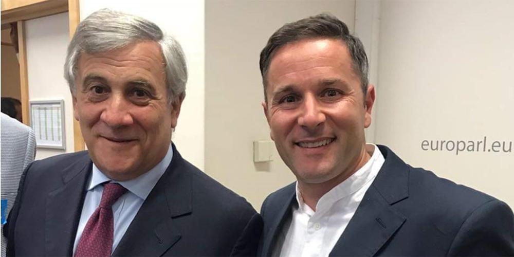 Marco Marcucci con Tajani