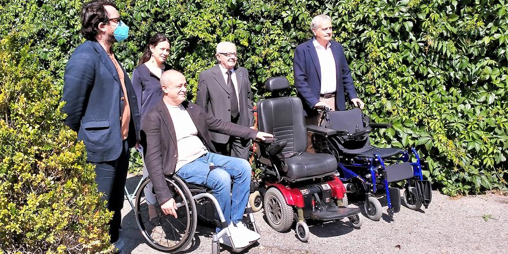 Due Carrozzine Elettriche donate da Confael Disabili al Comune di Viterbo