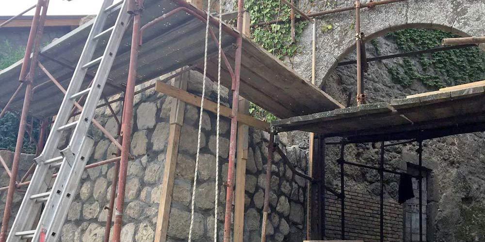 I-lavori-di-recupero-dell'arco Bassano in Teverina