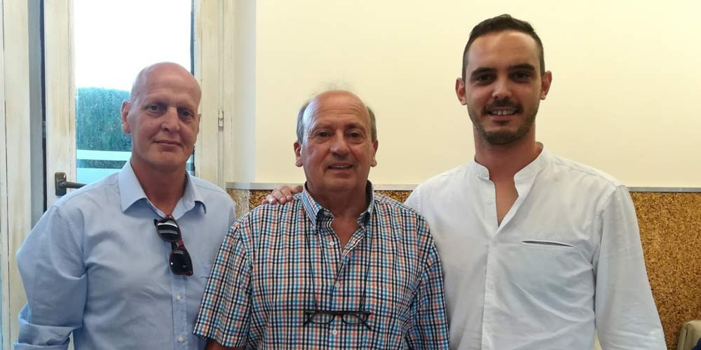 Nella foto: Benedetti, Gasbarri e Starnini